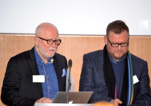 John Horodyski and Rolf Koppatz preparing presentations at DAM Helsinki 2016